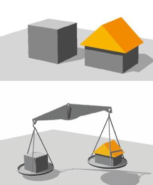 Reducción de gasto de energía con cubierta inclinada