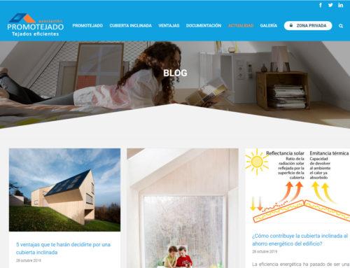 Promotejado lanza un blog para acercar a los ciudadanos las ventajas del uso y mantenimiento de las cubiertas inclinadas